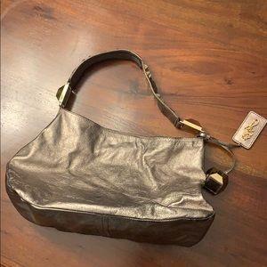 Betsey Johnson leather gold shoulder bag
